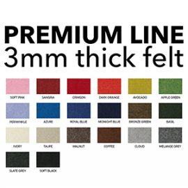 ⬛ PREMIUM LINE (3mm Felt)