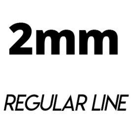 ⬛ REGULAR LINE (2mm Felt)